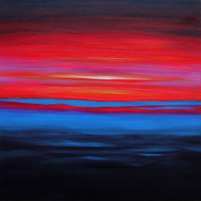 Julia Everett long hot summer night painting