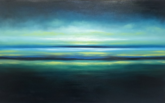 Julia Everett somewhere by the sea painting
