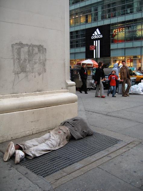 homeless man asleep st mungos