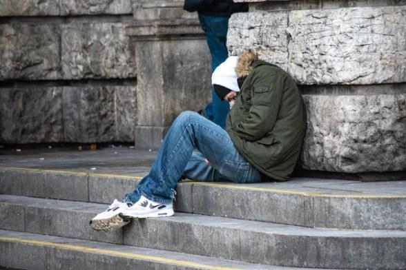 homeless man jeans chiswick st mungos
