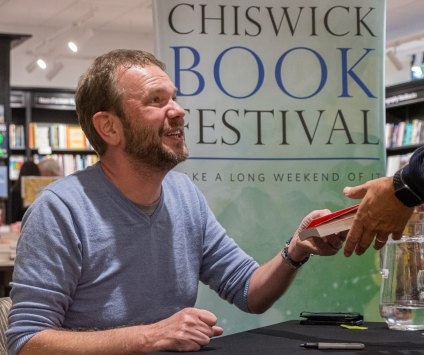 James O'Brien's book signing at the 2019 Chiswick Book Festival at Waterstone in Chiswick.