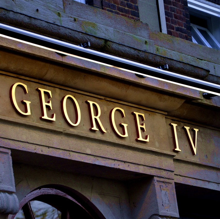 George IV sign - Square