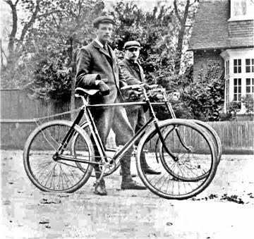 two gents with bikes