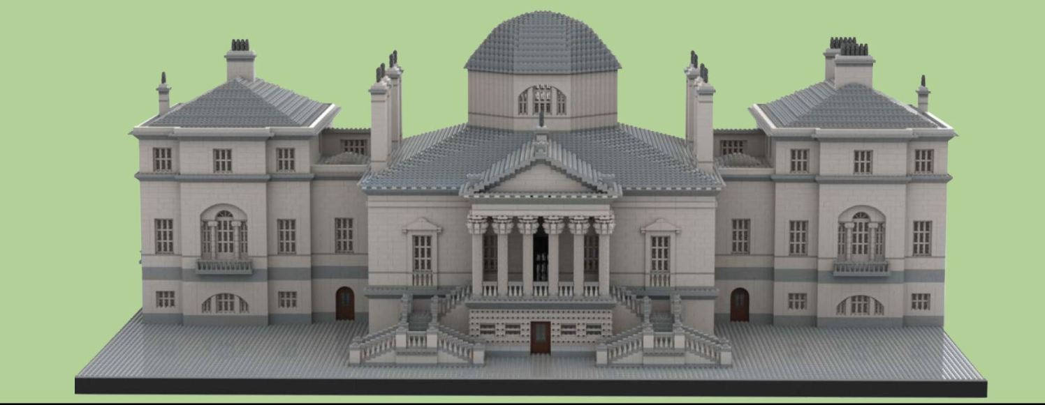 Chiswick House in Lego Bricks 1