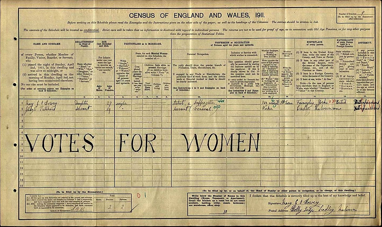 Suffrage Censuss 1911