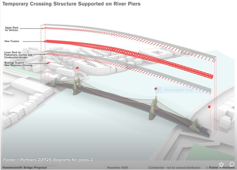 Temporary Crossing plan - Foster & Partners 2