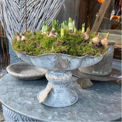 Greige galvanised bowl