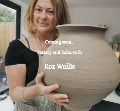 Roz Wallis, with pot