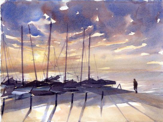 Sailing Club Early Eve by Christine Berrington