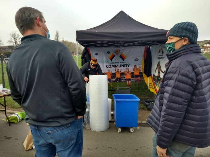 Laptop pick up point at Richmond Rugby Club