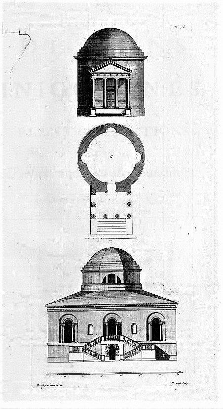 1.22 Domed Temple in Designs Inigo Jones 1727
