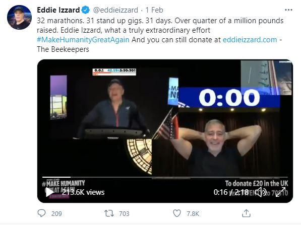 Eddie Izzard Twitter