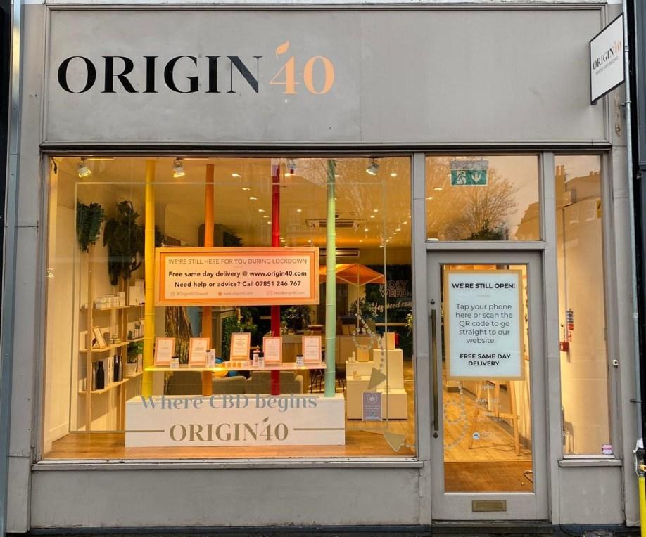 Origin 40 store