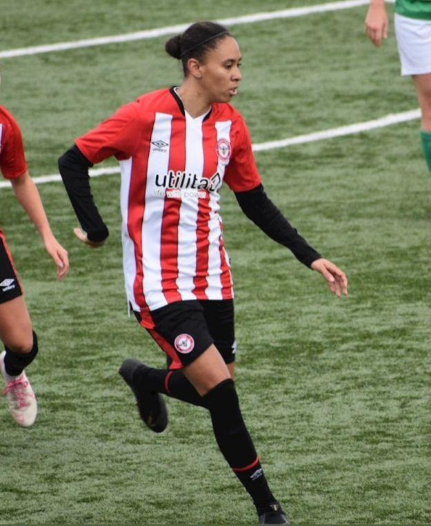 Rebekah Wiltshire 3 - Forward, Brentford Women's FC in action_web