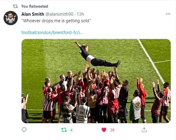 Brentford Tweet 1