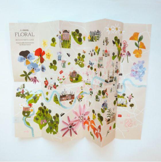 Floral London map