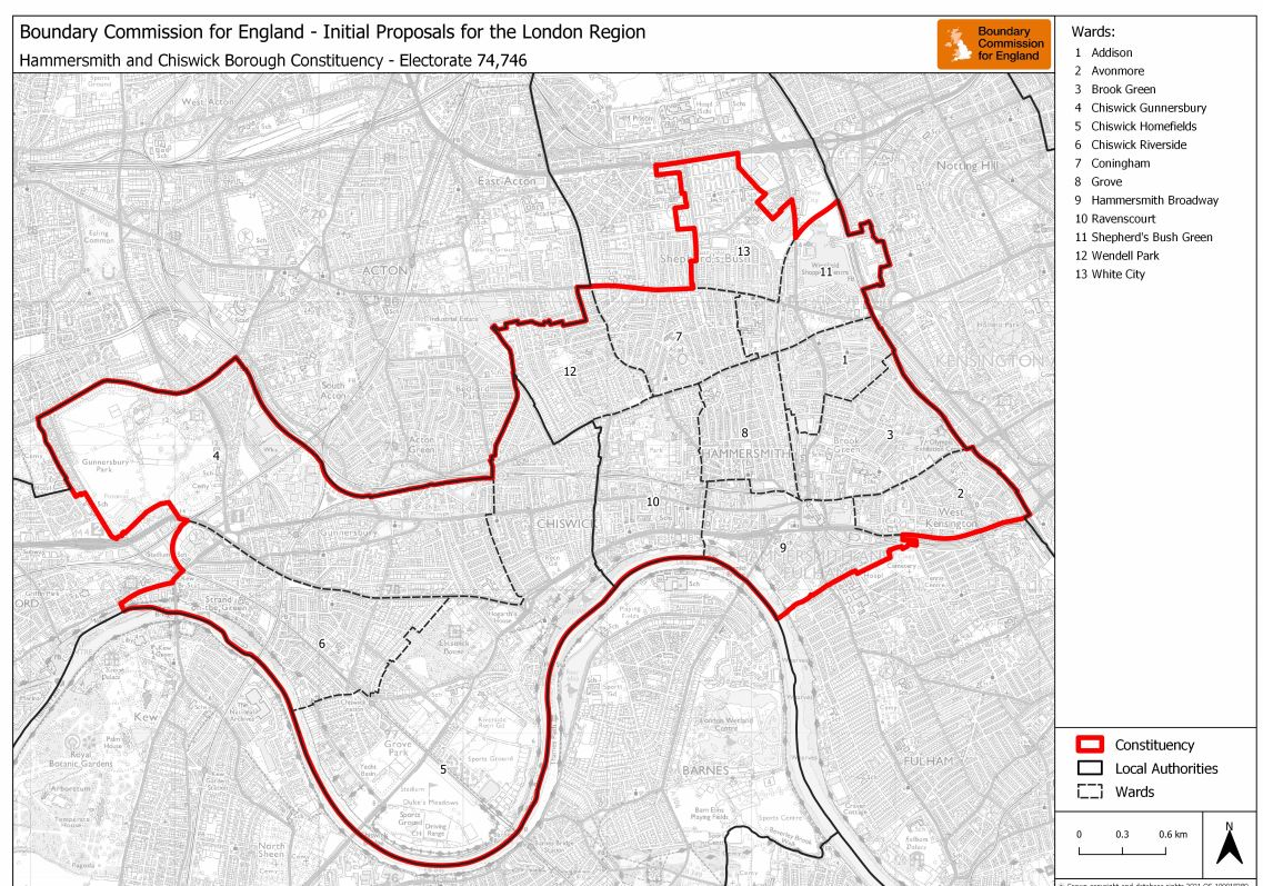 Hammersmith & Chiswick constituency map