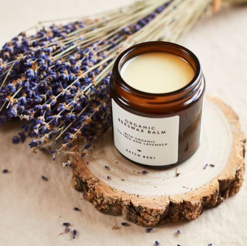 Batch #001 Organi Beeswax Balm Organic Tea Tree and Lavender_web
