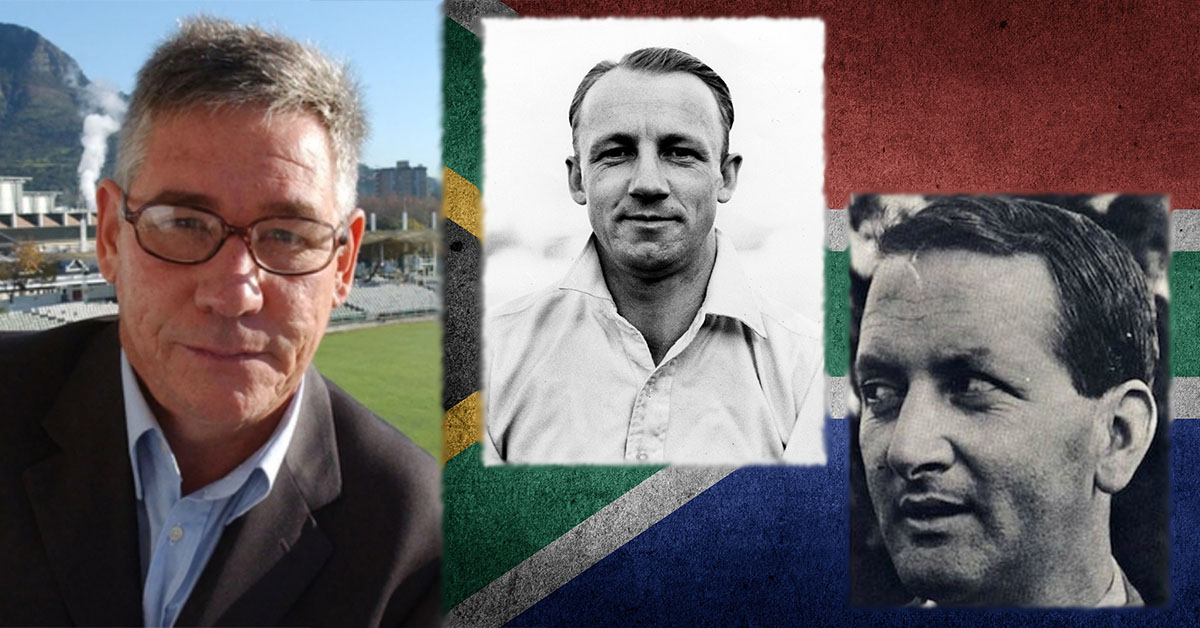 Pictured from left to right, Andre Odendaal, Don Bradman (1930), Basil D'Oliveira (1968)