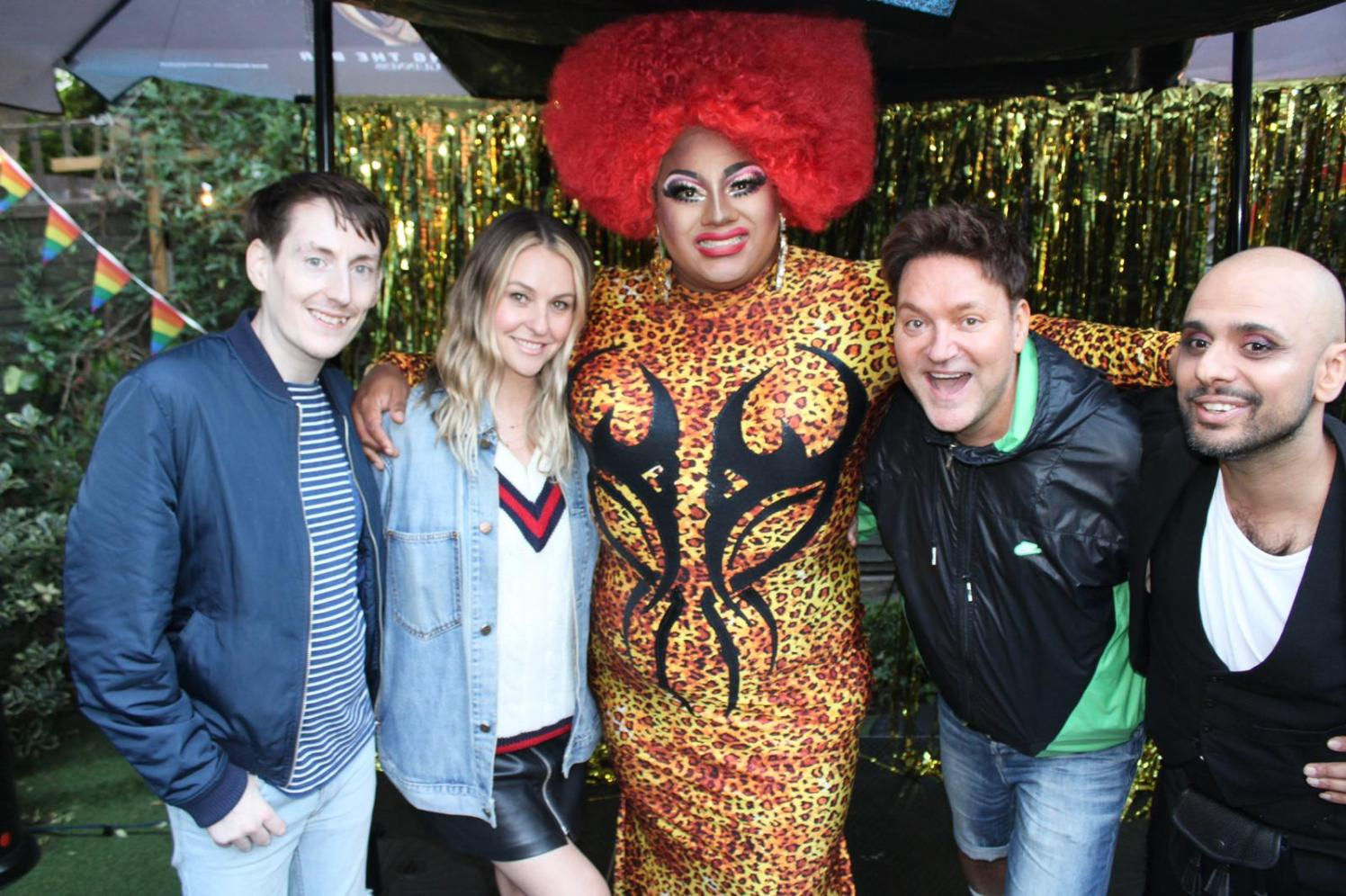 West London Queer Project - Aubrey in group photo