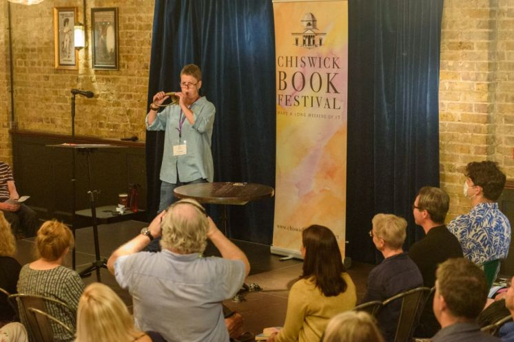 Local Authors Party 4 - Jo James and the HOrn of Doom - Roger Green_web