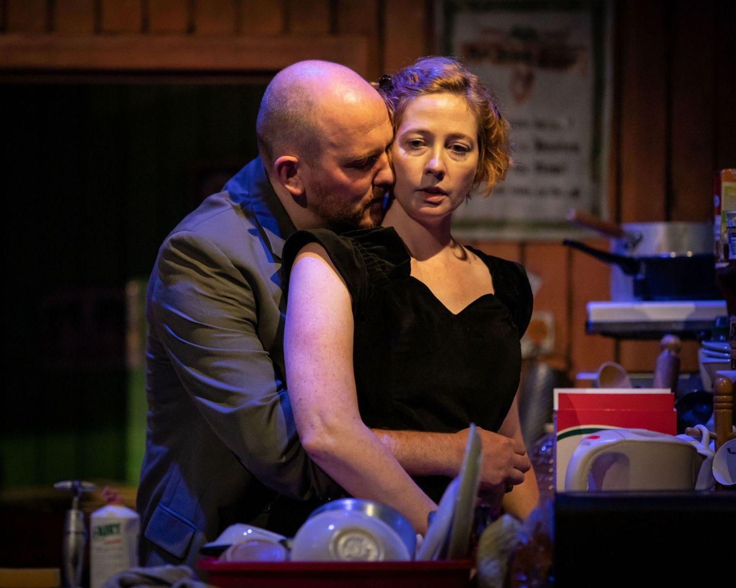 Adam Best, Orla Fitzgerald in THE BEAUTY QUEEN OF LEENANE. Photo Helen Maybanks (2)_web