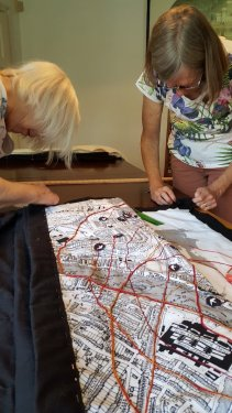 Chiswick without Borders tapestry final touches