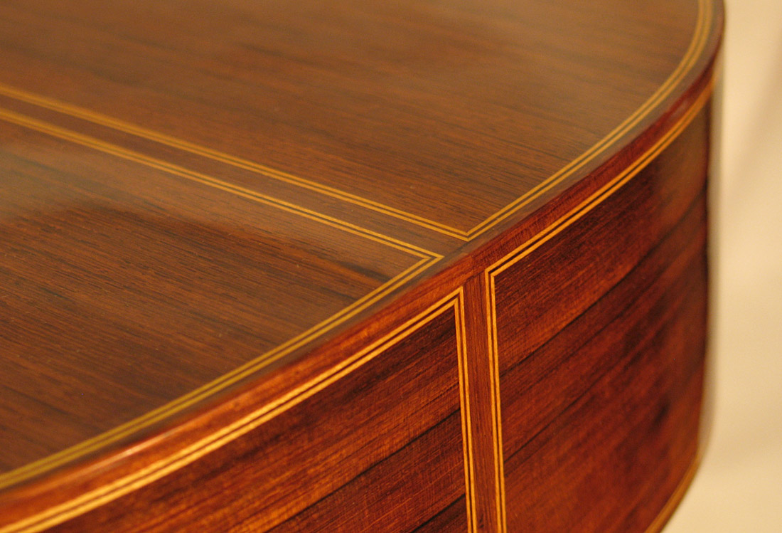 Slanted Binding And Purfling Joint Classical Guitar