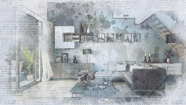 家具 インテリア 近代的