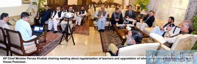 cm kp metting for regularization of NTS teachers