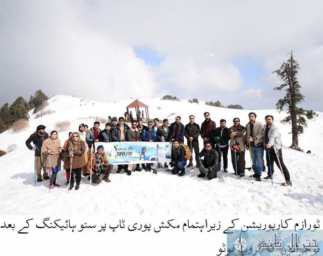 snow hicking chitral