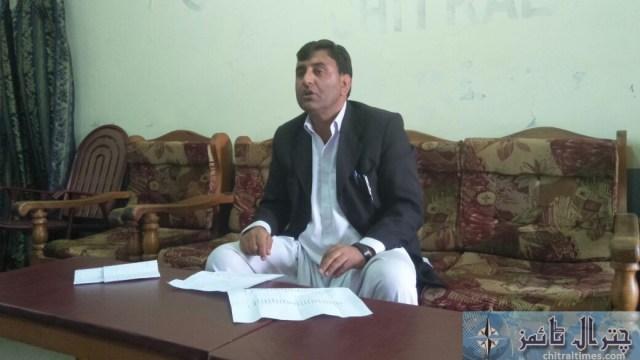 wiqas ahmad advocate press confrence Chitral 1
