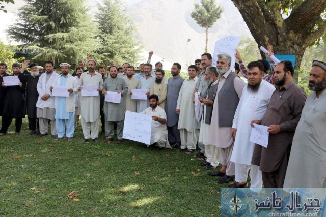 chitral doctors protest against privatization of hospitals 1