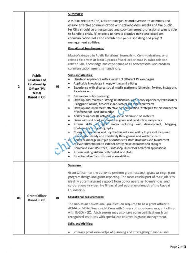 job opportunites rupani foundation gb 2 1