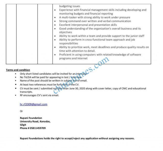 job opportunites rupani foundation gb 3 1