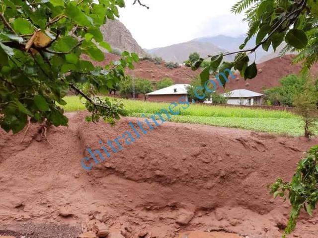 Zait chitral flood damages 2