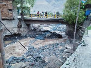 drosh flood water and irrigation channel washed away chitral 1
