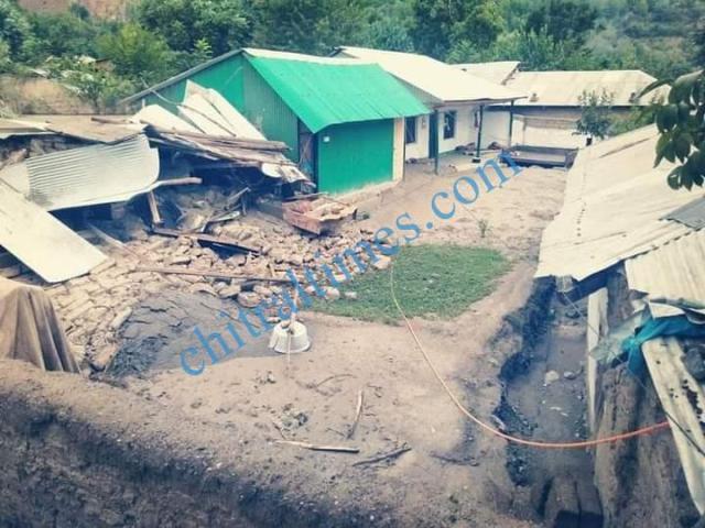 reshun flood damages houses