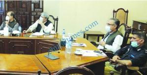 KP Chief Secretary Dr Kazim Niaz meeting on video link1 scaled
