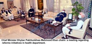 cm mehmood khan meeting on health reforms scaled