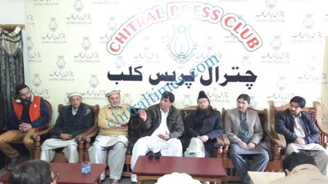 cdm chitral press confrence roads our demand