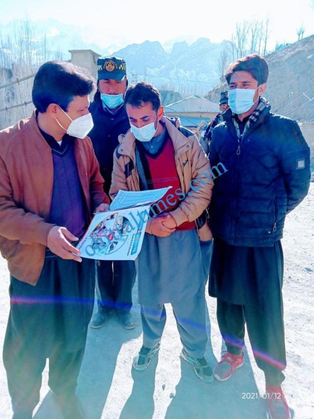 DC upper chitral shah saood visit thq hospital and polio