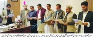 KP Special Assistant to CM on Information Higher Education oath taking from chitral press club cabinet scaled