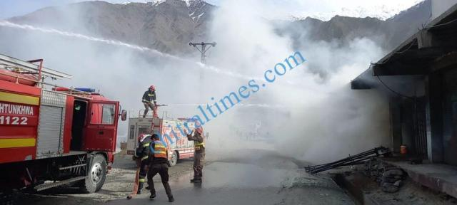 chitral danin cought fire rescue1122 responce4