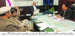 wazir zada meeting with ceo pesco