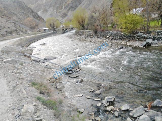Garamchashma dsl line in danger chitral road 1