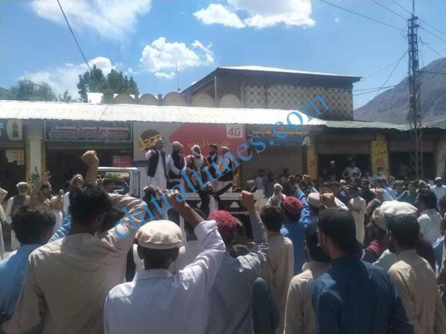 Chitral protest against israili agression reshun1