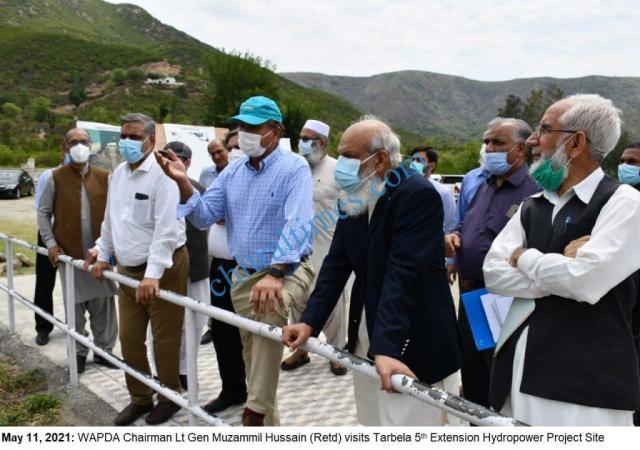 chairman wapda visit tarbila dam