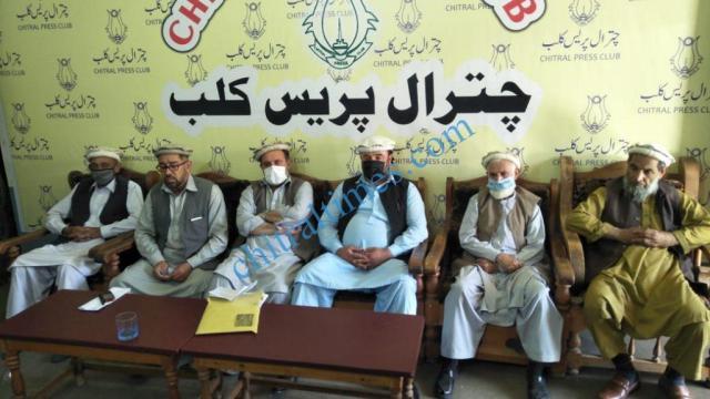 tujjar union chitral press confrence shabir1