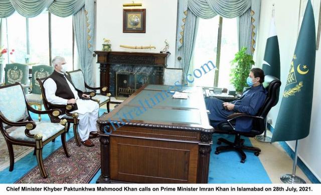 chitraltimes chief minister kp mahmood khan met imran khan pm